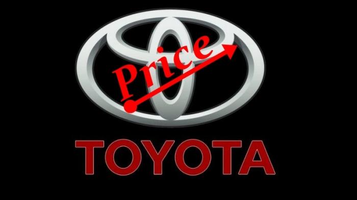 Toyota Price Hike