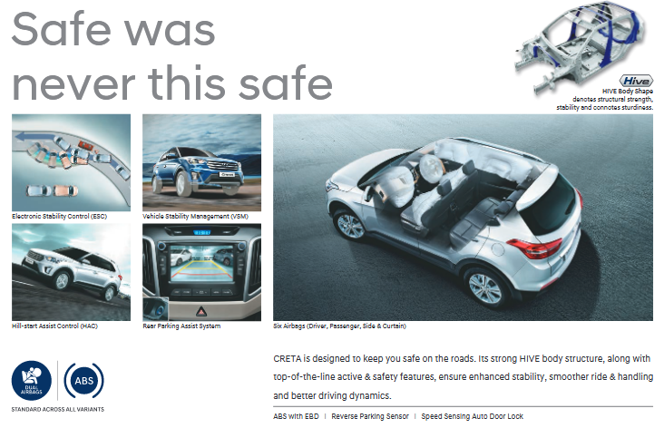 Hyundai Creta Safety and Braking