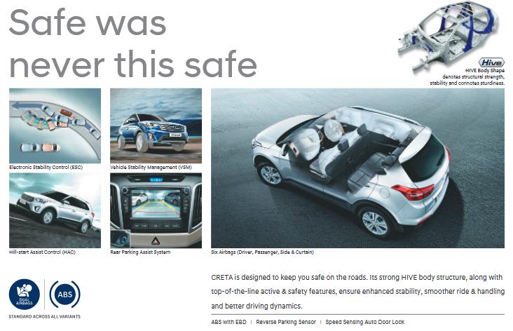 Hyundai Creta Safety and Braking