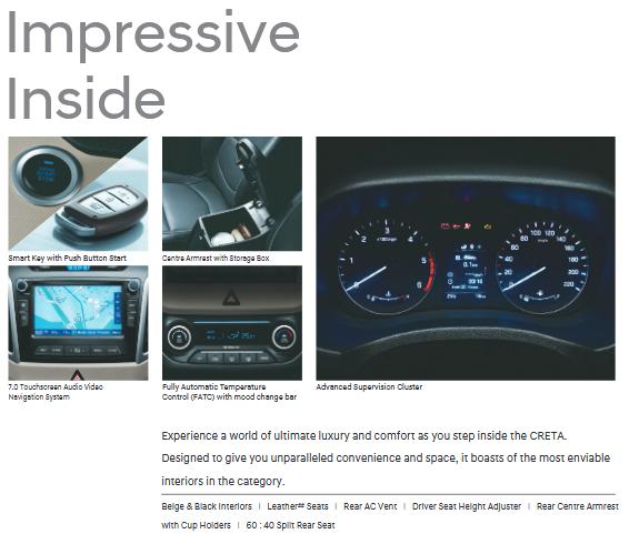 Hyundai Creta Features