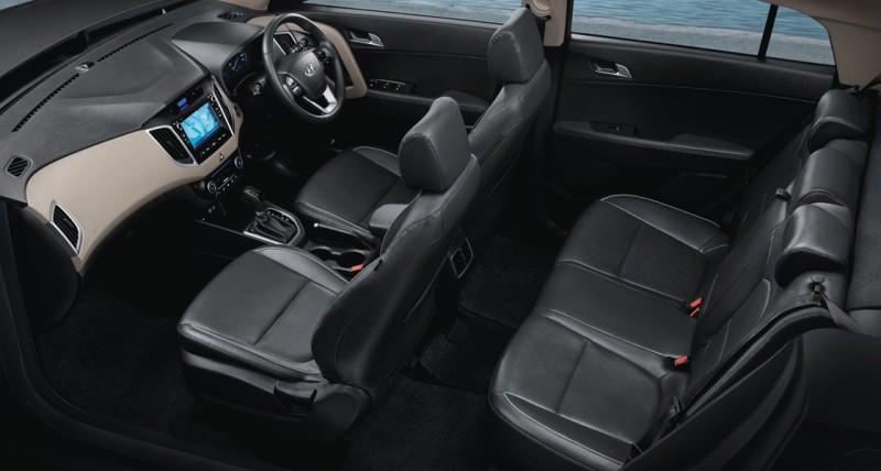 Hyundai Creta Interior legroom and seats