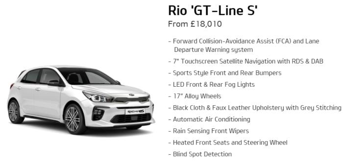 Kia Rio GT-Line S