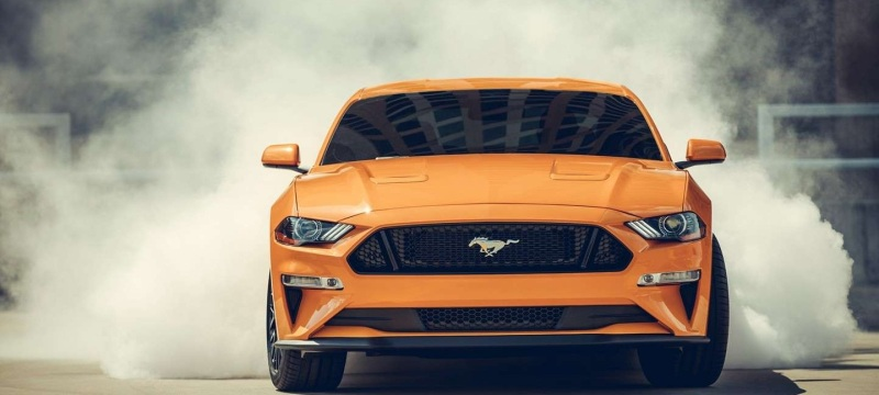 Ford Mustang 2019 performance, grill, front view