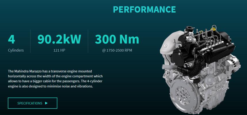 Mahindra Marazzo Engine and Performance