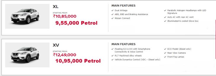 Nissan Kicks Variants #Nissan #Kicks #Variants #NissanXL #NissanXV #Kicksxl #kicksxv #xvpremium