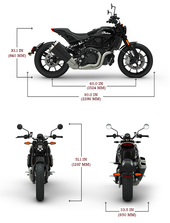 Indian FTR 1200 S Dimensions