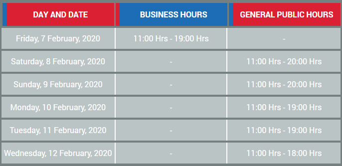 Auto expo 2020 The Motor Show timings